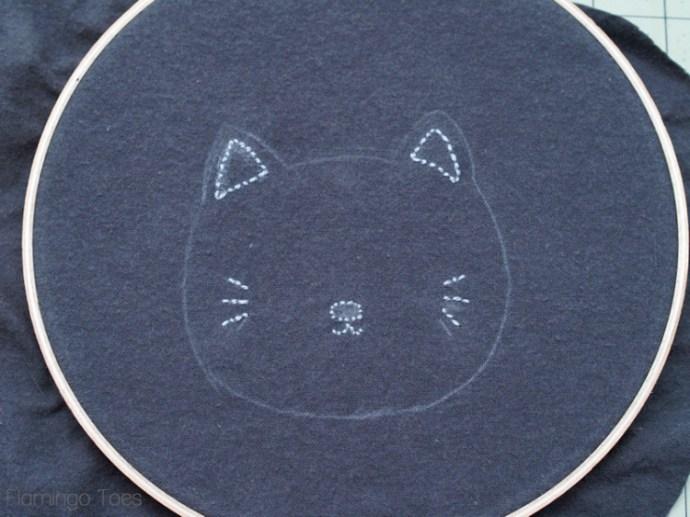 Kitten Embroidery