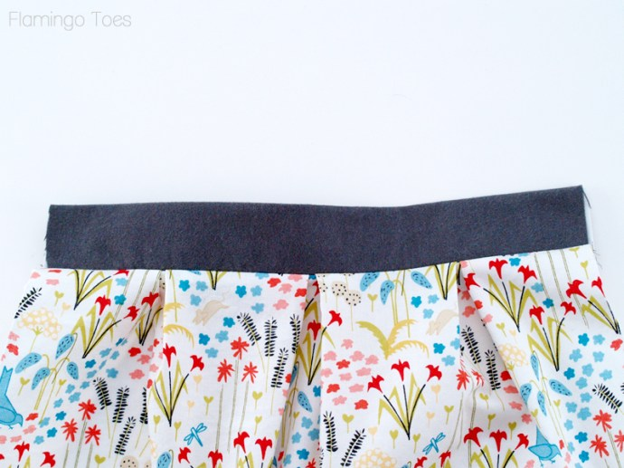 sewing waistband to skirt
