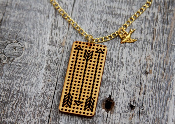 Hunger Games Stitched Arrows Necklace