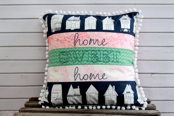 Happy Home Fabric Pillow
