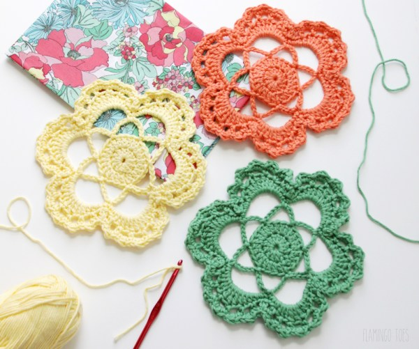 Crochet Flower Doily Pattern