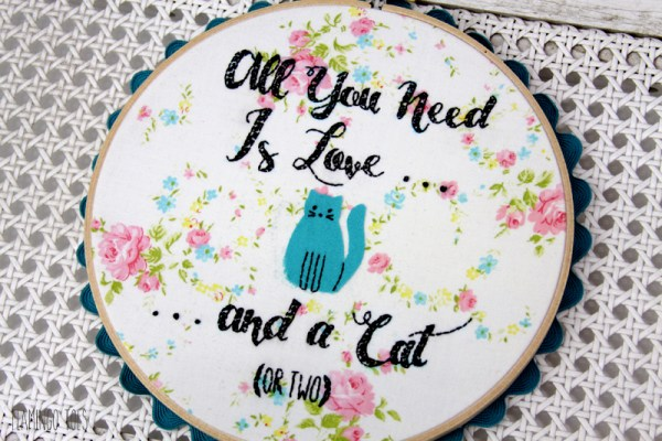 Cute Cat Embroidery Pattern