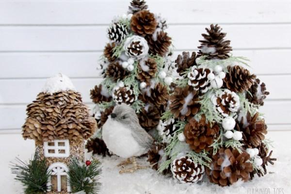 Winter Pinecone Trees