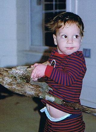 Daniel toting firewood