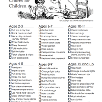 Age-Appropriate Chores for Children