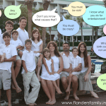 You don't have to have very many children before other people start quizzing you on your family size -- three or four is usually enough to pique their curiosity. | www.flandersfamily.info