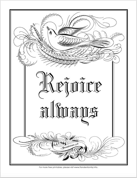 rejoice coloring pages - photo#5