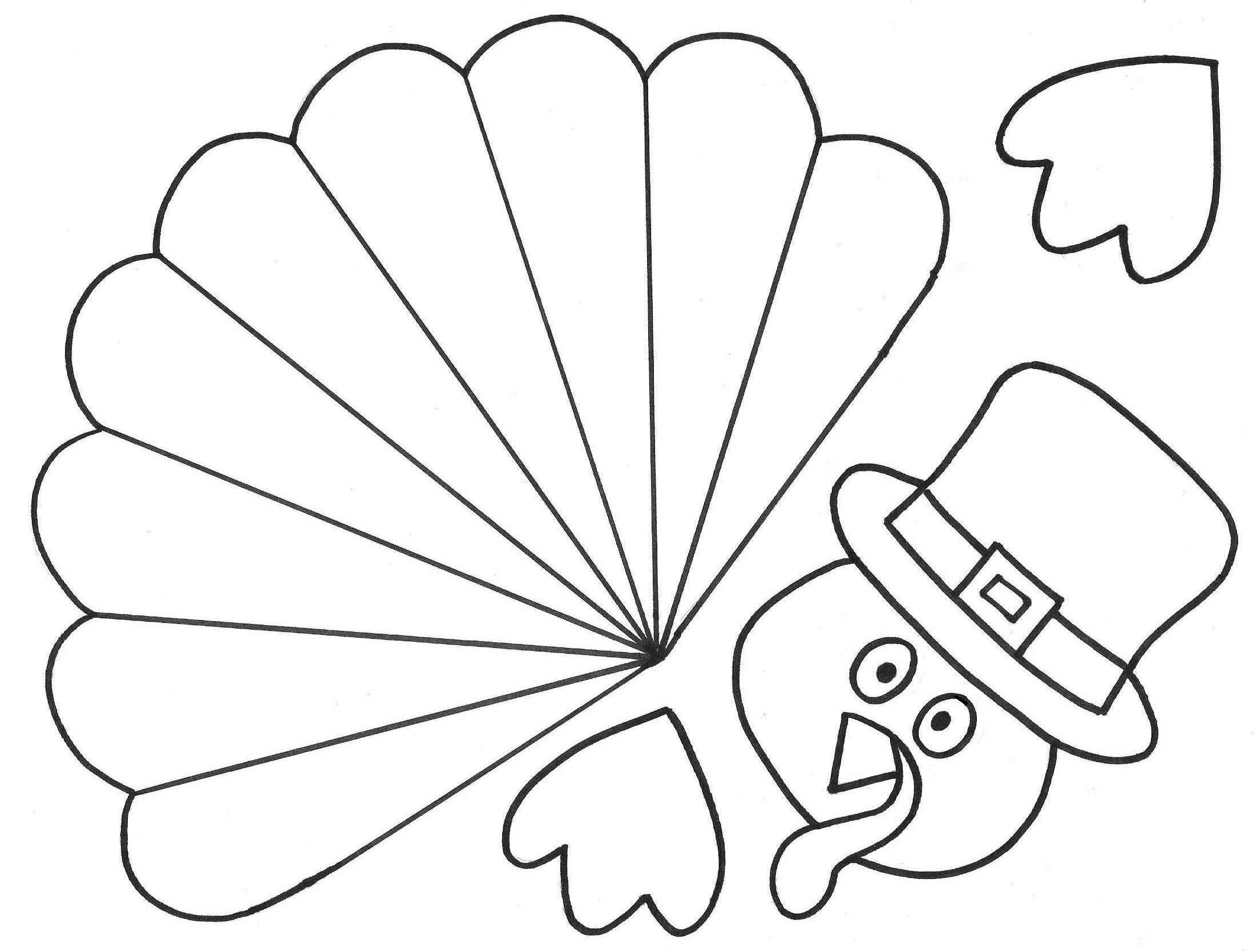 Enterprising image within turkey cut out printable
