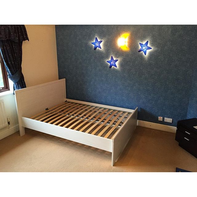 Ikea double bed assembly haywards heath flat pack dan for Ikea flat pack garden