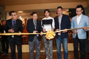 ribbon cutting of the Kyochon Greenhills branch