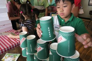Krispy Kreme Stacking Cups with JJ