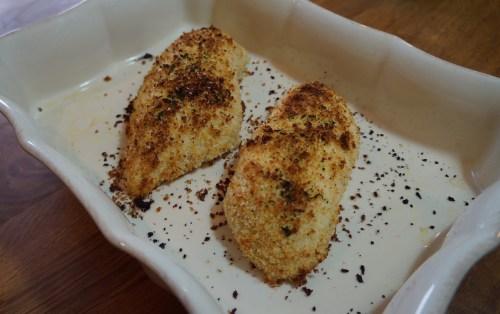 Medium Of Baked Parmesan Crusted Chicken