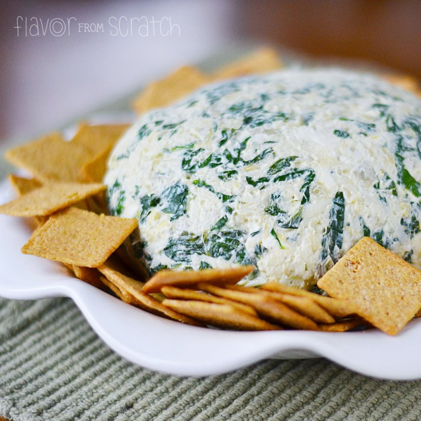 Spinach Artichoke Cheese Ball - Flavor From Scratch