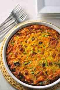 Zucchini Carrot Quiche