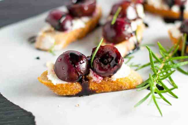 Lemon Ricotta Crostini with Honeyed Peaches - Flavour and ...