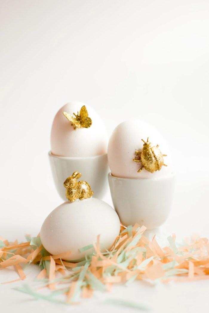 gold animal easter egg diy-7194