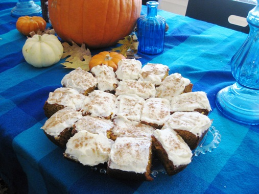 Pumpkin bars have become a family favorite