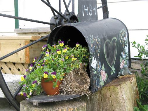Tina Wilson's flower-filled mailbox