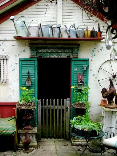 The Little Shop Antiques and Gardens has a French vintage look