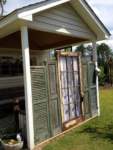 Kim Trudo's porch shutters from the outside