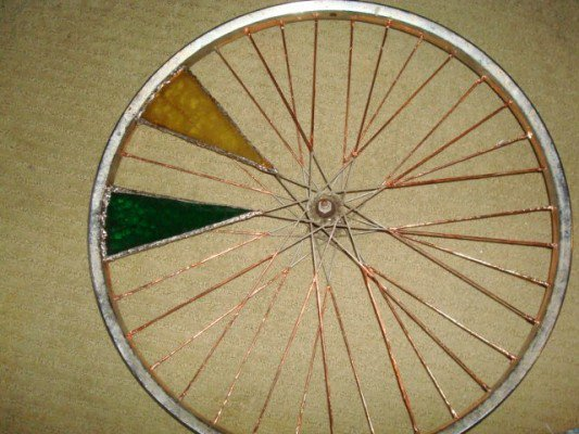 Copper foil on the spokes