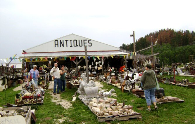 Yup, a tornado must have hit!  It was US at Boyd's Antiques!