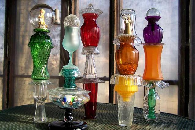 Lynn Lang's garden glass collection