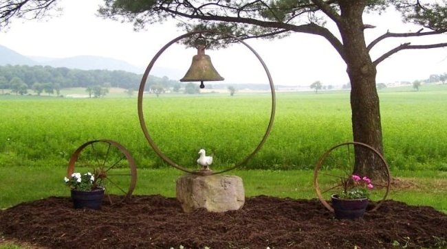 Antique bells in the garden-featured