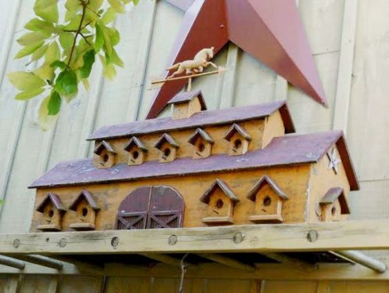 Annie Grossart-Stein -We do a lot of birdhouses with weather vanes here at the shop.