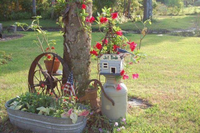 Blondeponders Garden and Duck Tales jailbird vignette