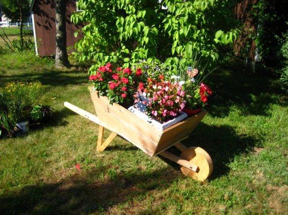 Nell  loves her flower cart now!