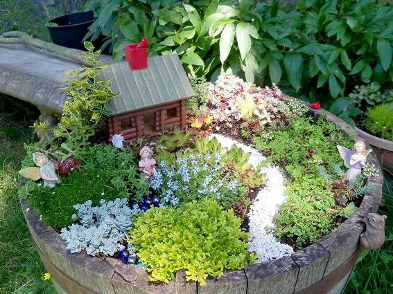 How to create a fairy garden in a container flea market for How to create a garden