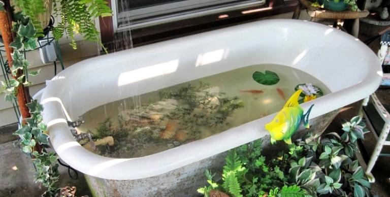 Bathing beauties, repurposing bathtubs in the garden