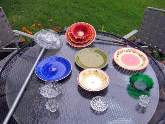 Easy to make dish flowers flea market gardening for Waste material flower making