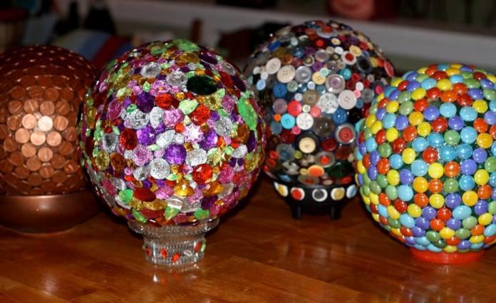 How To Decorate A Bowling Ball Endearing Glossy Garden Art Using Bowling Balls  Flea Market Gardening Inspiration