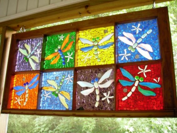 Shelby Spencer's dragonfly window