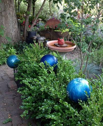 Susan Bauer's naturally blue bowling balls