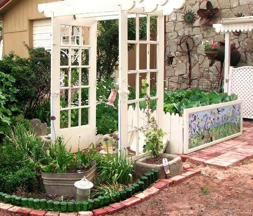 Becky Norris's door arbor and surrounding garden