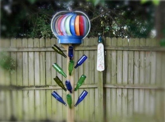 Brenda Schenck's colorful turbine tower