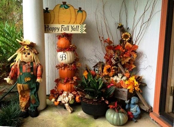 Sheila Bowden's pumpkin stack