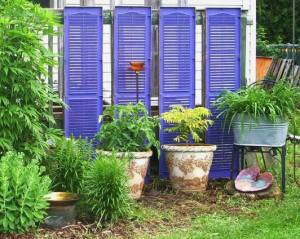 Laura Wilke made good use of old shutters