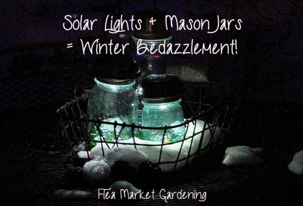 Jeanne, solar lights in Mason jars