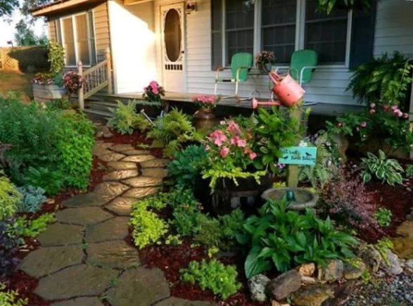 Dandi Gentry welcomes us to her garden