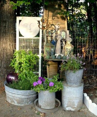 Di-Ellen Davenport's galvanized garden