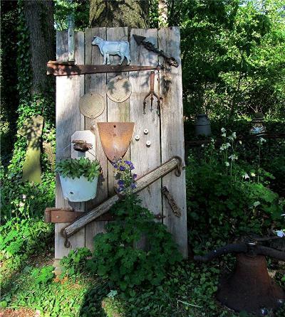George Weaver's decorated door