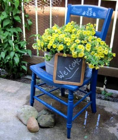 Jeanie Merritt's welcoming blue chair