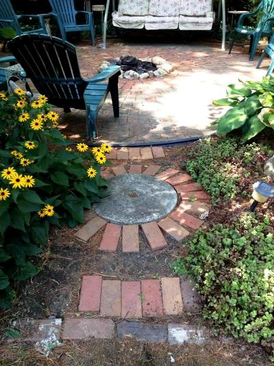 Myra Glandon's version of stepping stones, leading to her patio