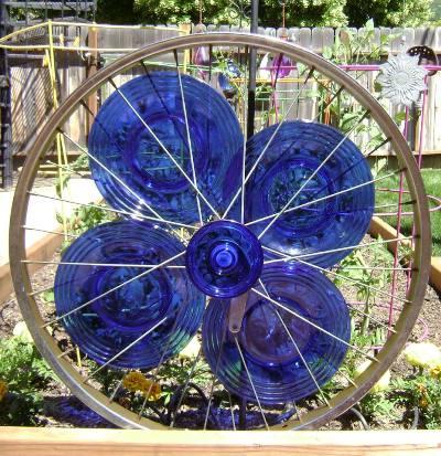 Glassy blue bike rim