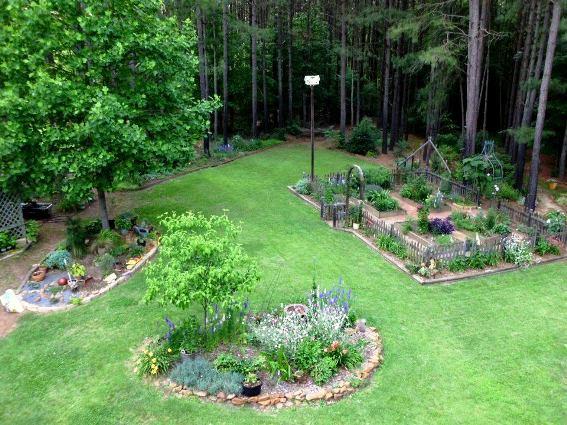 Island garden beds belonging to Tom and Lynne Mann