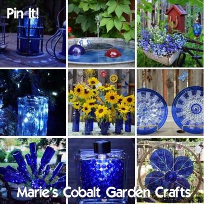 Marie's Cobalt Garden crafts Pin it!